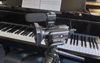 Piano Studio Video Camera