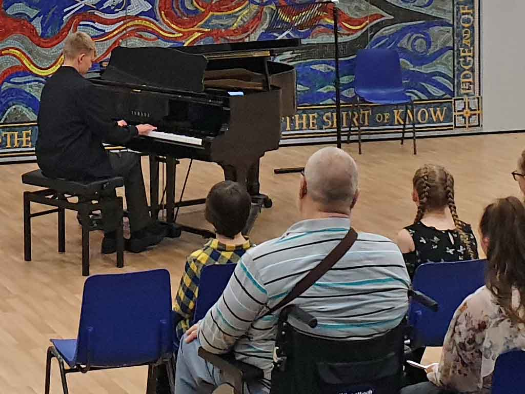 Lawrie playing at the ABRSM High Scorers' concert 2019