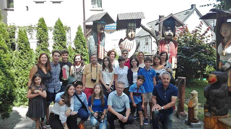 Group photo of Student Exchange Visit to Poland 2017